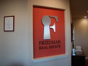 Real Estate Lobby Sign