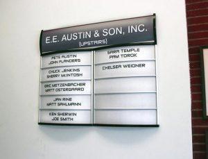 Custom Office Building Directory- Pompano Beach, FL