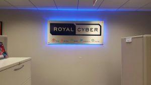 Royal Cyber Backlit Lobby Sign