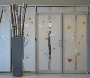 etched vinyl window film