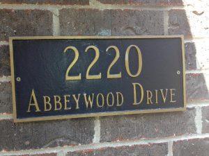 address sign 1 300x225 Address Signs